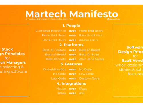 A Martech Manifesto – 4 Guiding Principles to Design Martech Stacks Fast